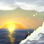 Wiglaf and Mordred at Sunset